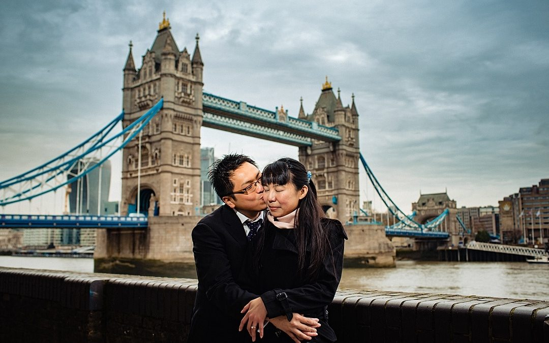 London Winter Engagement Photography