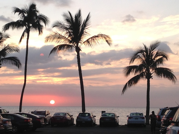 Running, Walking and Watching Maui Sunset