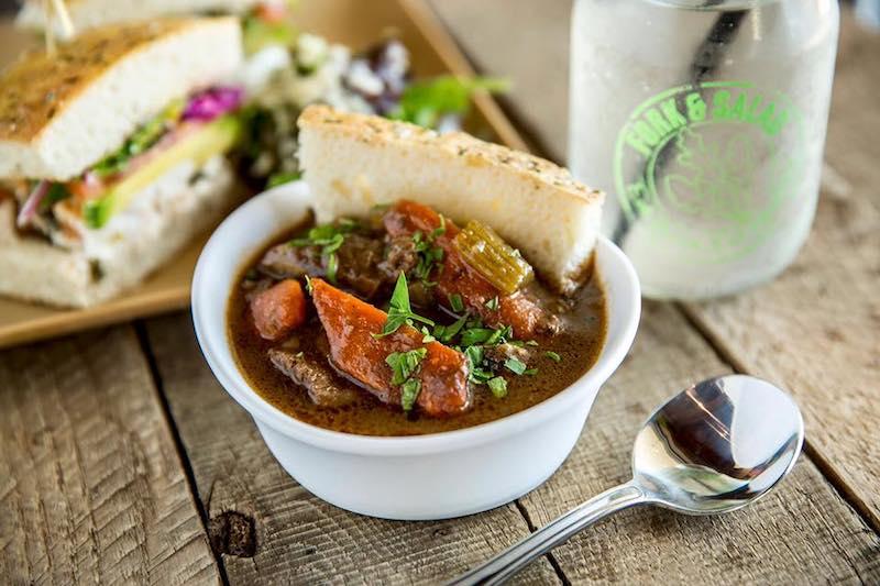 Soup At Fork And Salad Maui