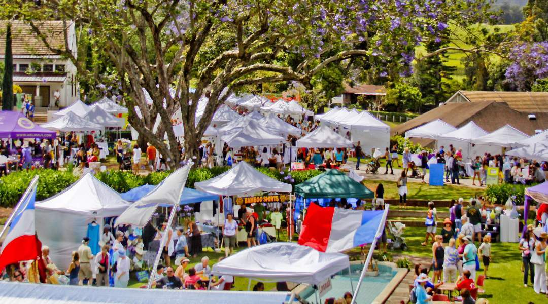 The Seabury Hall Craft Fair happens the day before Mother's day