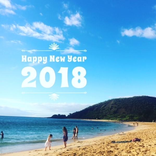 Happy New Year 2018 With Aloha From Maui