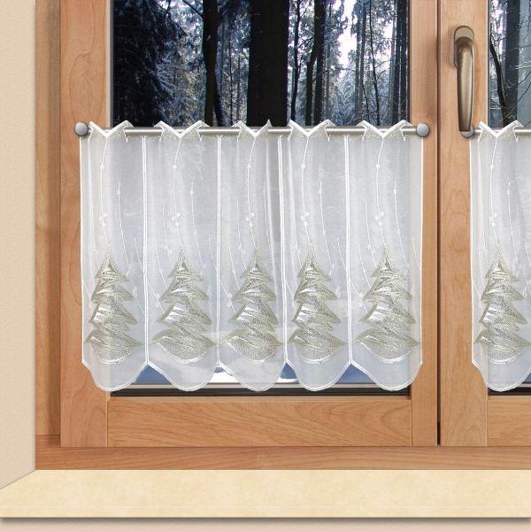 Winter-Scheibengardine Tannenbaum