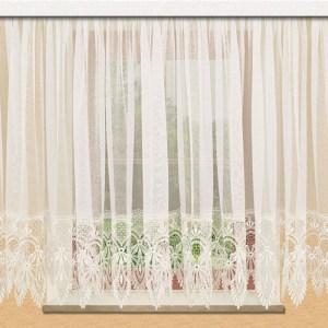 Spitzen-Store Vera Naturfarben mit 30 cm breiter Spitzenkante aus Echter Plauener Spitze