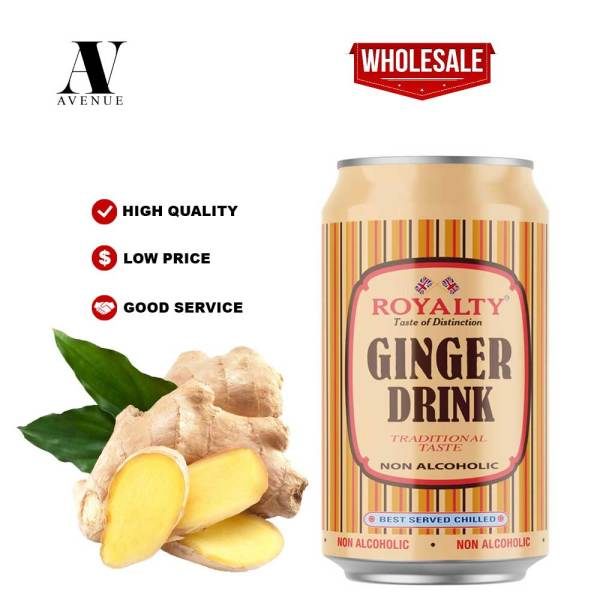 Royalty Ginger Drink Non Alcoholic Soft Drink VALUE PACK CAN