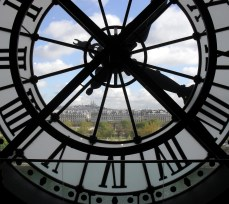 Montmartre seen through one of the immense clocks in the Musee d'Orsay. A photo I snapped in spring.