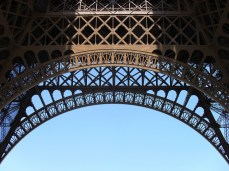Such a charming conception to use these arches as supports. I snapped this on a perfectly clear spring day in Paris