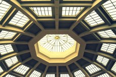 Light through the glass ceiling of the Melbourne Library