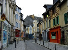 Picturesque street in old Rennes
