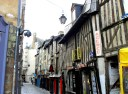A wonderfully lopsided street in Rennes. I snapped this photo in spring
