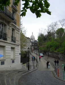 Sacré-Cœur in the distance on a lovely spring day.