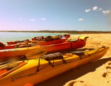 A beautiful warm day in Exmouth, Western Australia...before the shark...