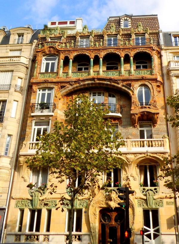 Art Nouveau Building Facade