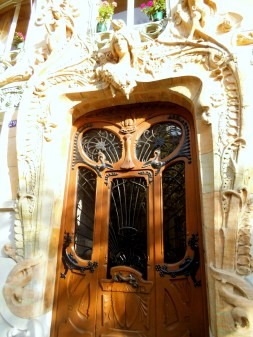 This door caused controversy when people detected a phallus in the decoration.