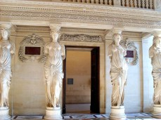 These formidable caryatids support a minstral's balcony in the Louvre.