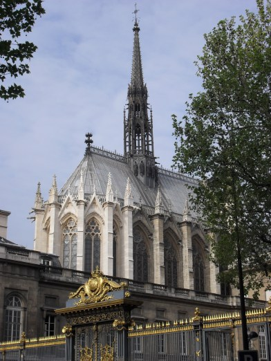 A glimpse of Sainte-Chapelle we took one perfect April in Paris