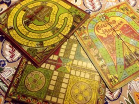 These Edwardian games have such attractive graphics and the little captions on some of the squares are delighful.