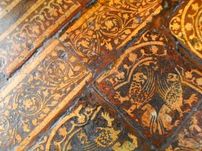 Other border tiles in this amazing floor, still vivid in detail and colour despite centuries of feet passing.