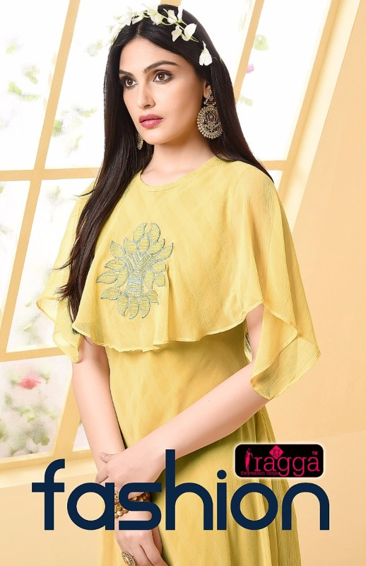 RAGGA FASHION GEORGETTE ONE PIECE PARTY WEAR GOWN COLLECTION WHOLESALE DEALER SURAT