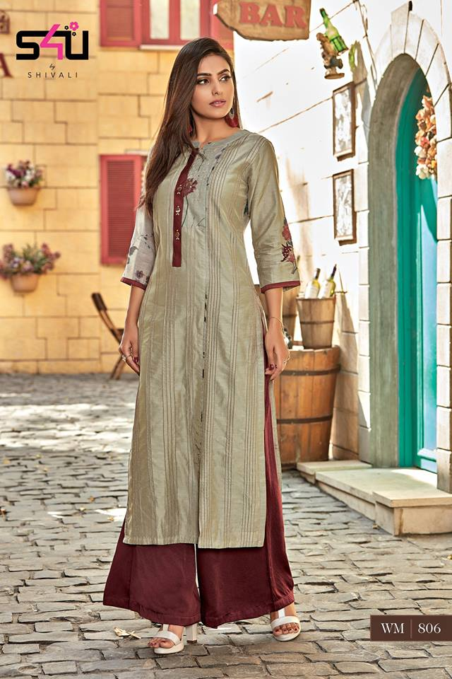 1385a8da82 AMAVI EXPO S4U BY SHIVALI WOMANIYA VOL 8 KURTI WITH PALAZZO NEW ...