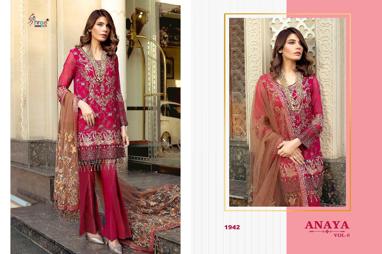 0354172879 SHREE FABS PRESENTS ANAYA VOL 6 GEORGETTE EMBROIDERY PAKISTANI SALWAR SUIT  AT WHOLESALE PRICE. DOWNLOAD ZIP · DOWNLOAD PDF