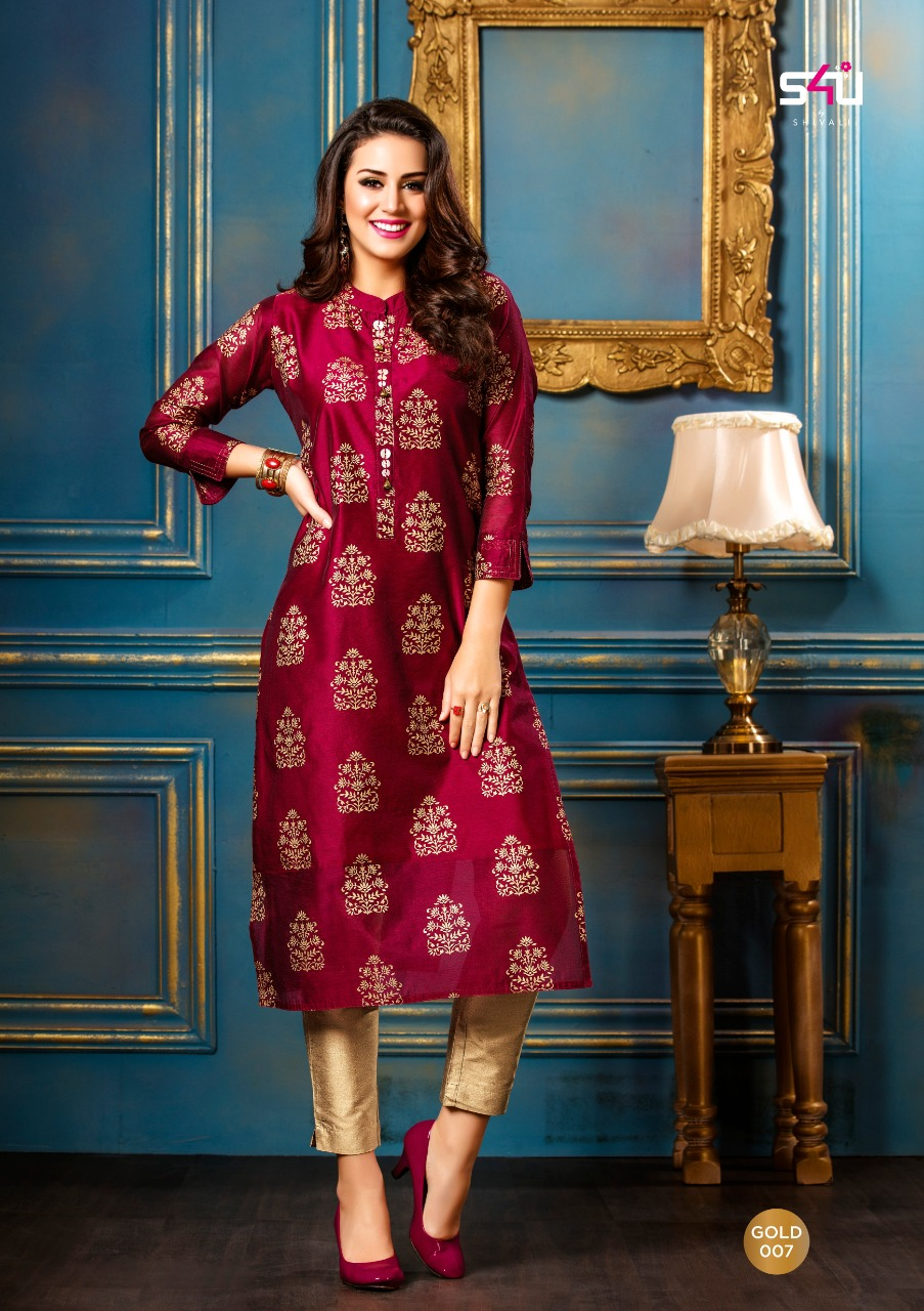 d15c0d0ca4 AMAVI EXPO S4U BY SHIVALI GOLD GLORIOUS COLLECTION OF KURTIS ...
