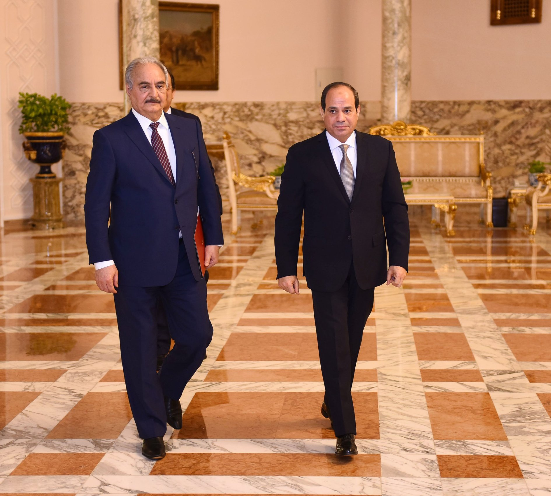 Image result for haftar libya with Sisi