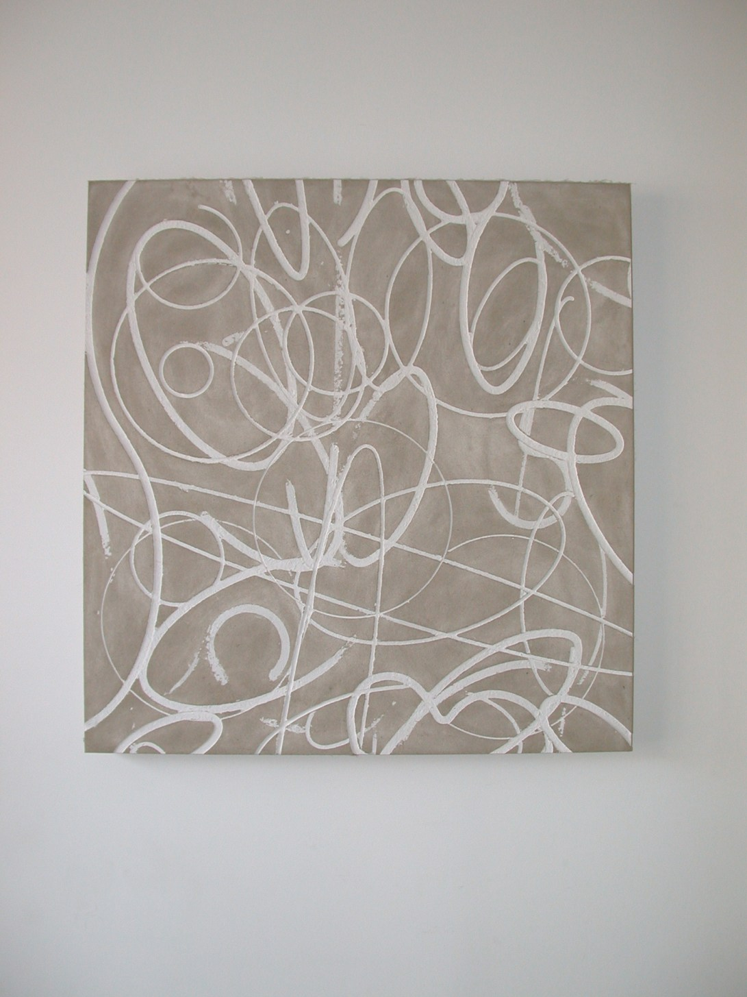 Flatwork 2, Untitled, gesso on homasote