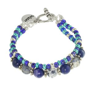 Water Element Wrap Bracelet and Necklace