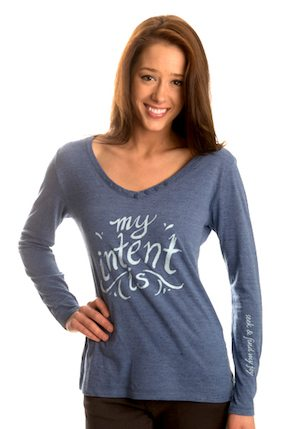 Wear Luck Tee, My Intent is to Seek and Find My Joy
