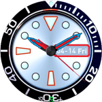 Light Blue Analogic Watchface