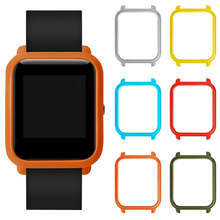 For Xiaomi Huami Amazfit Bip BIT PACE Youth Smart Watch PC Protective Case Cover Colorful Frame Shell Smart Watch Accessorie(China)