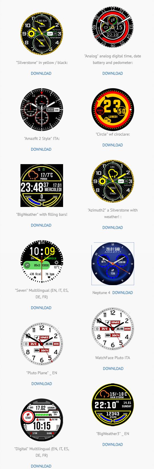 Marco F\'s APK (Java) Watchfaces - Amazfit Central