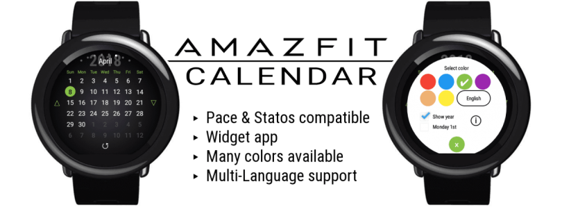 Get a Calendar Widget for the Amazfit Pace/Stratos - Amazfit