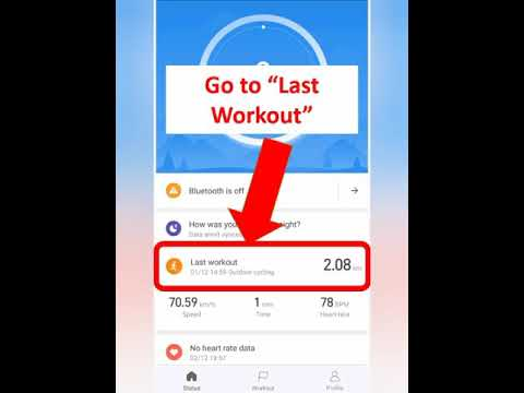 How To Export Activity From Amazfit BIP To Strava Using MiFit