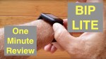 """XIAOMI HUAMI AMAZFIT BIP LITE Fitness Smartwatch """"Always On"""" Screen Missing GPS: One Minute Overview"""
