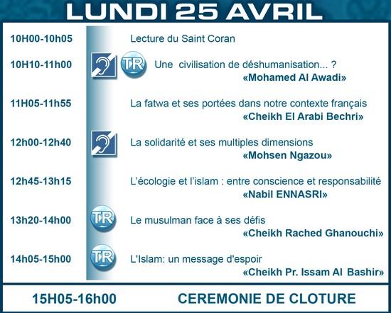 Le programme de la 28eme rencontre annuelle des musulmans de france
