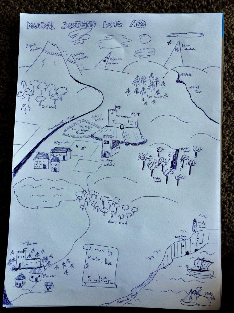 Magical Scotland Map for Blog