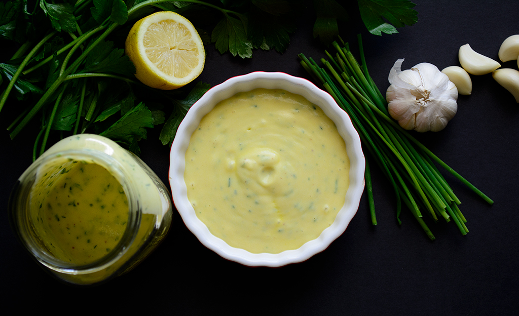 #Vegan ranch dressing made with #ackee
