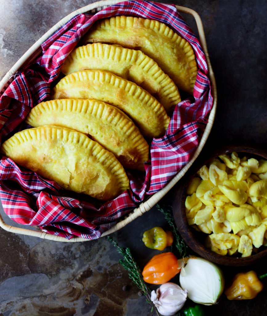 Delicious jamaican ackee patties with all natural ingredients, no shortening #vegan