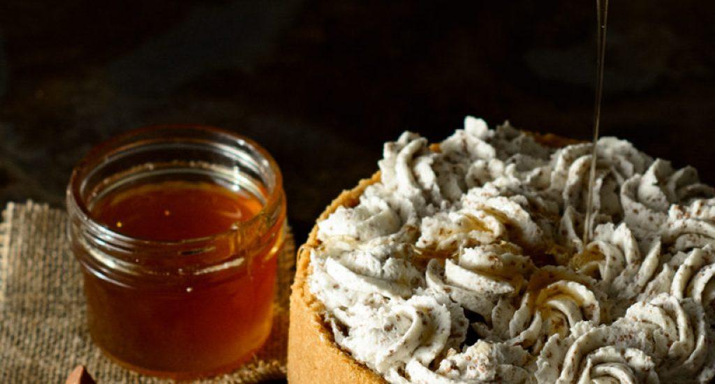 Ackee Honey Cheesecake with Toblerone Whipped Cream
