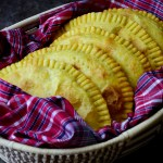 Vegan-Jamaican-Ackee-Patties,-flaky-crust,-well-seasoned-filling,-delicious