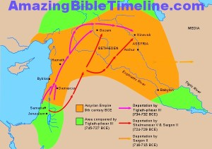 israel and the first carrying away by assyria amazing bible