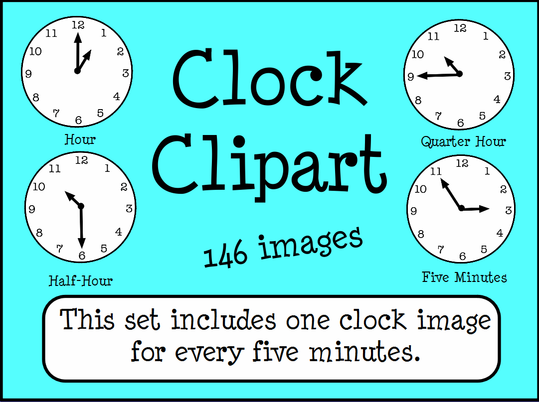 Clocks Telling Time Clipart Images Promethean Resource Gallery Pack