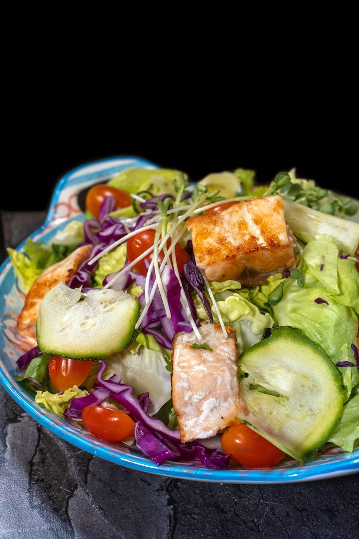 Salmon Teriyaki Salad