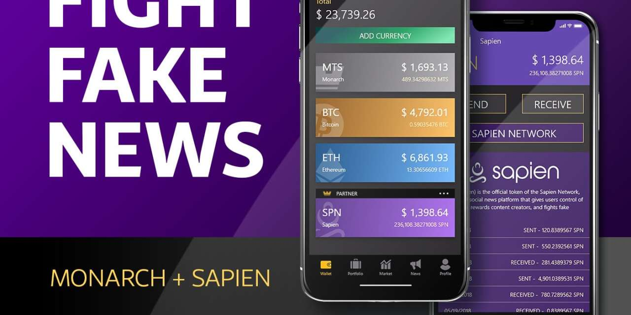 Sapien (SPN) Adopts Monarch For Cold Storage Wallet And Fiat Gateway