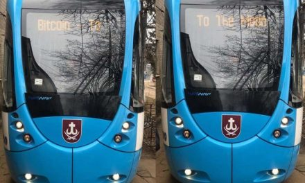 'Bitcoin to the Moon' Signs Appear on Ukrainian Tram