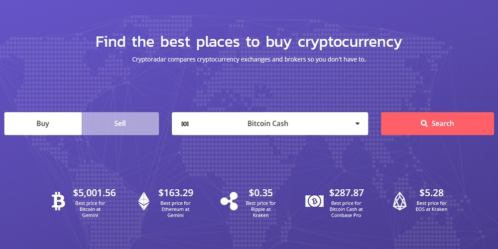 Cryptoradar Finds Best Prices Across Exchanges and Brokers