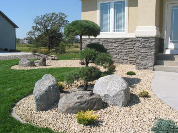 landscape boulders enhancing