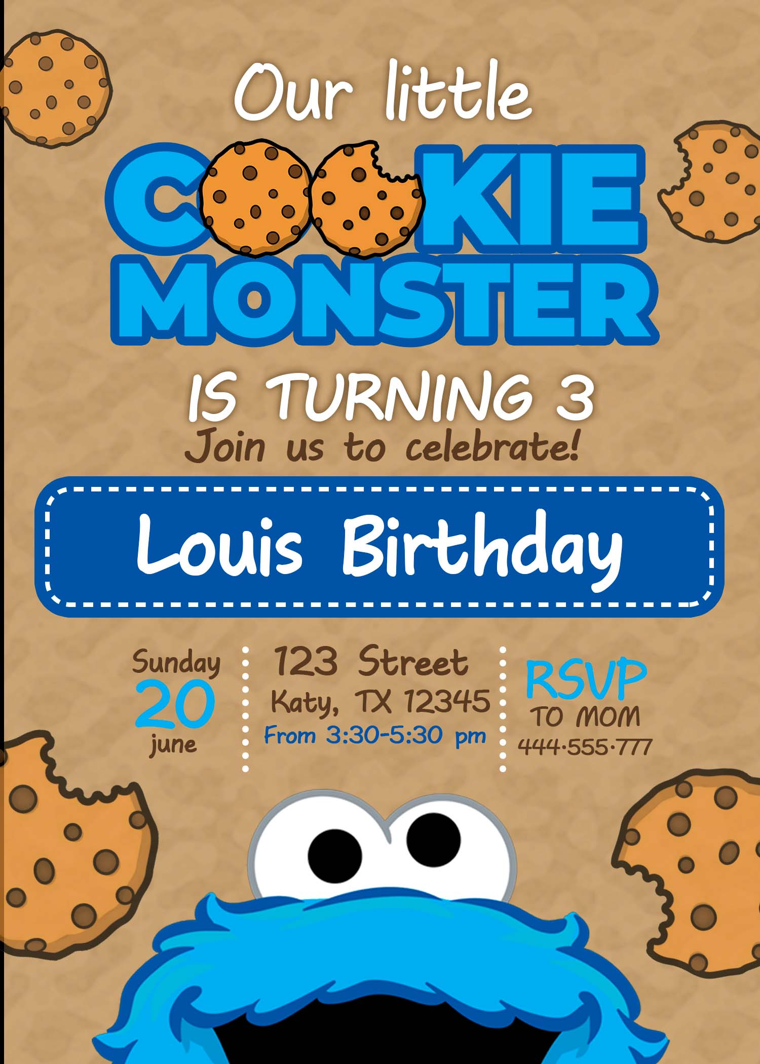 cookie monster birthday party