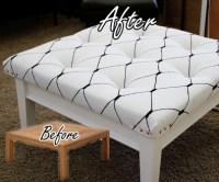 DIY Coffee Table To Ottoman Makeover